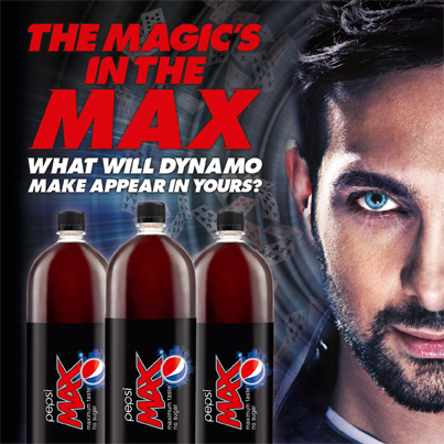 For our next trick… Dynamo magically makes Pepsi MAX appear in your