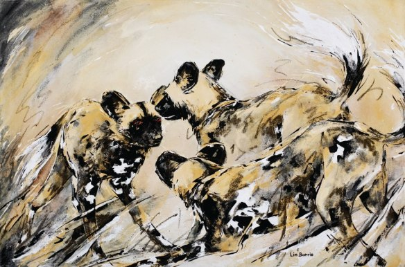 image of Painted Wolves by Lin Barrie