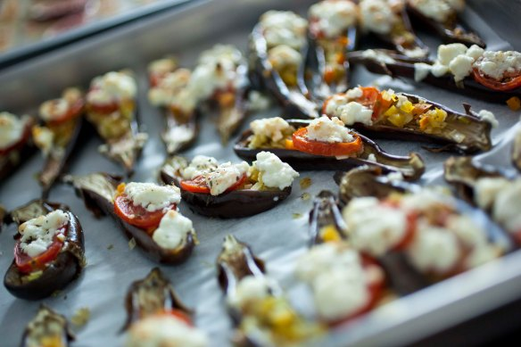 Picture of Stuffed Aubergines
