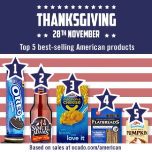 Top 5 American products at ocado.com