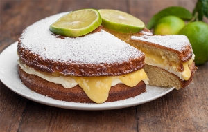 Victoria Sponge with Bergamot Curd and Mascarpone Cream Filling