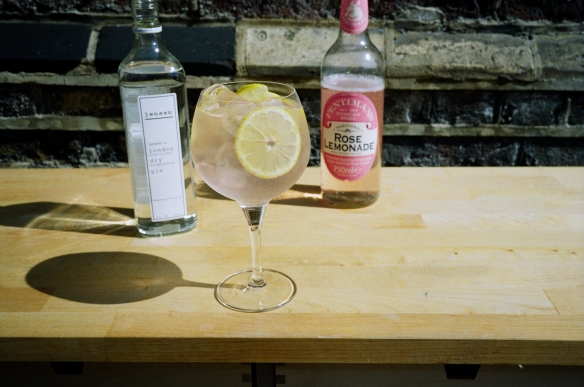 Jensen Bermondsey dry gin and Rose Lemonade