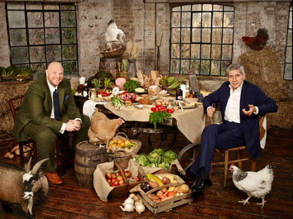 Britain's Next Top Supplier judges Tom Kerridge and  Sir Stuart Rose