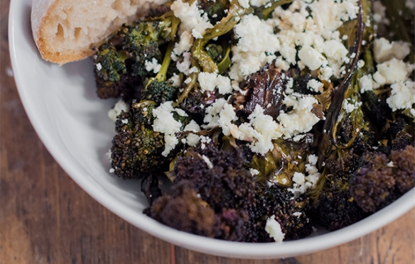 Roasted Purple Spouting Broccoli