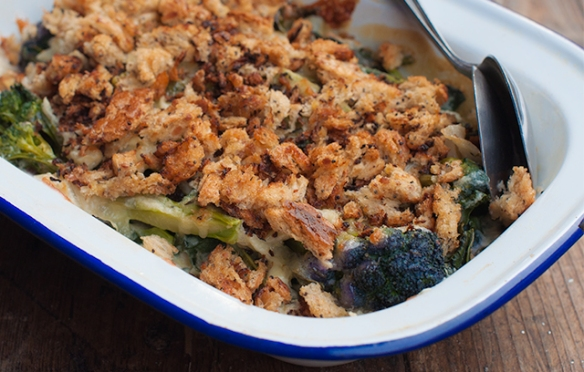 Purple Sprouting Broccoli Gratin