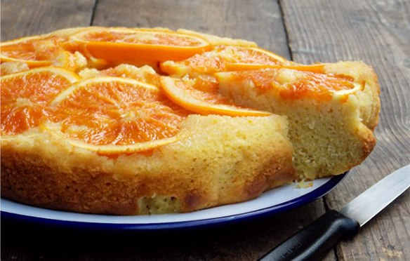 Image of Natoora Orange Polenta Upside Down Cake recipe at Ocado