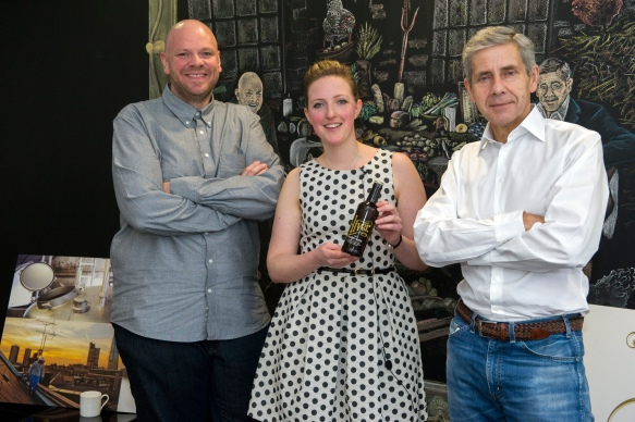 Image of Hannah with Tom Kerridge and Sir Stuart Rose