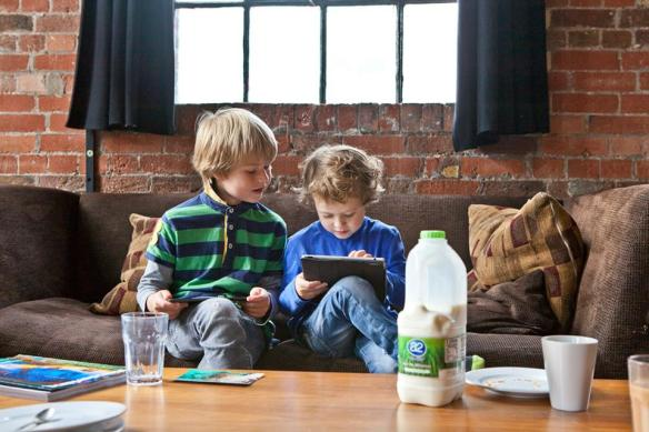 Image of children enjoying a2 Milk