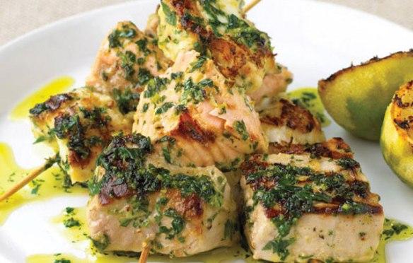 Mixed Fish Kebabs