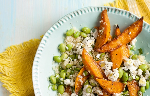 Image of Couscous, Sweet Potato and Edamame Salad