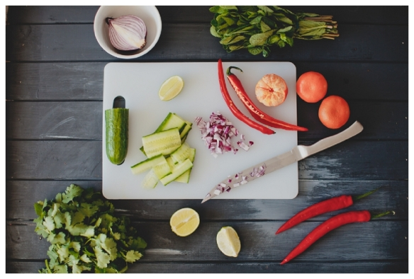 Image of chopping board and ingredients by Anja