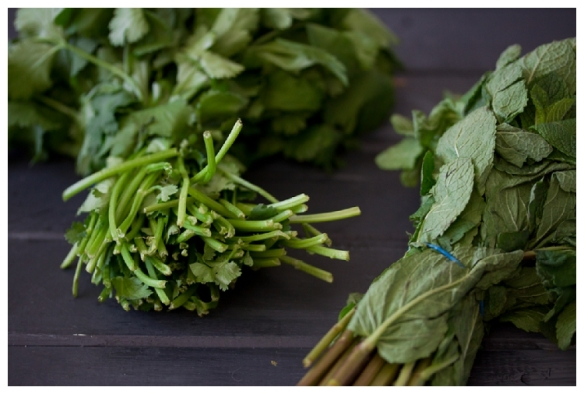 Image of herbs up close by Anja