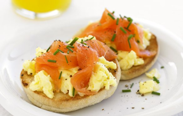 Image of Scrambled Eggs with Smoked Salmon recipe