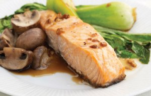 Salmon with Mushrooms and Pak Choi recipe foods for pregnancy