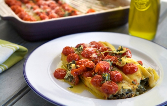 Goat's Cheese Cannelloni recipe