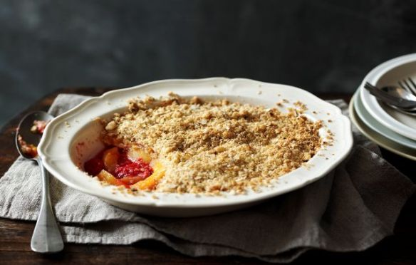 Image of Peach and Raspberry Crumble