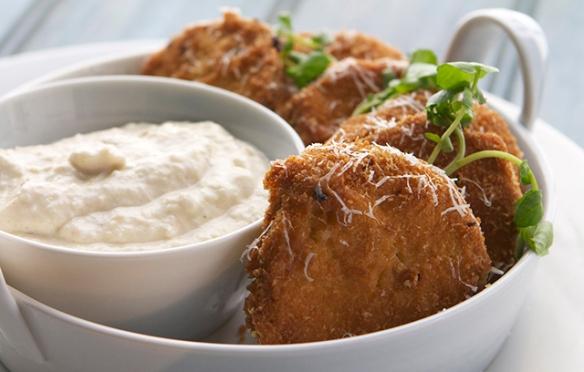 Image of Fried Aubergine with Fennel Yoghurt