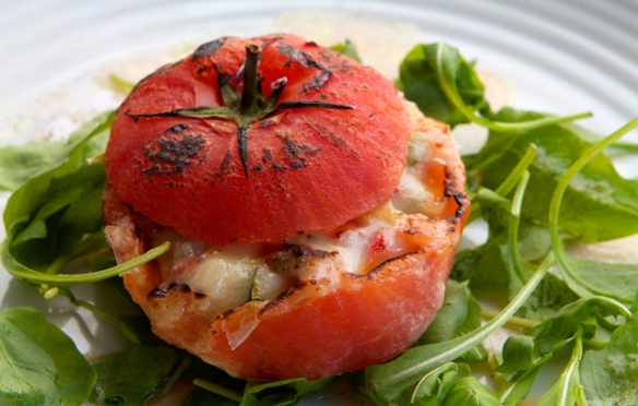 Image of the stuffed tomatoes