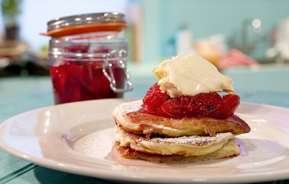 Image of the Lemon Ricotta Pancakes