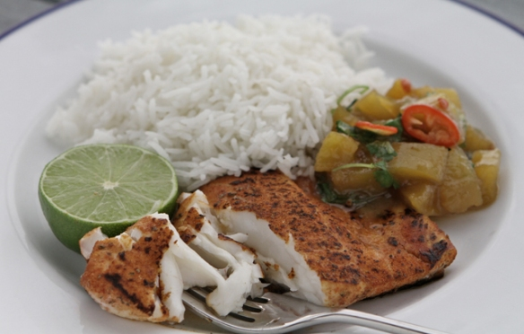 Image of the Blackened Halibut