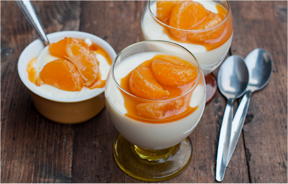 Clementines in a pudding